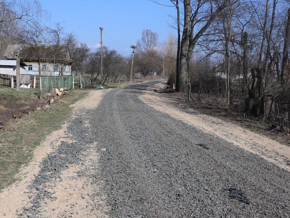 Відремонтована вул. Поліська у Смідині