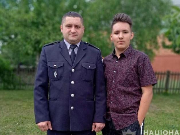 Микола Карпук із сином