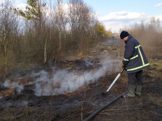 Пожежа біля Яревища