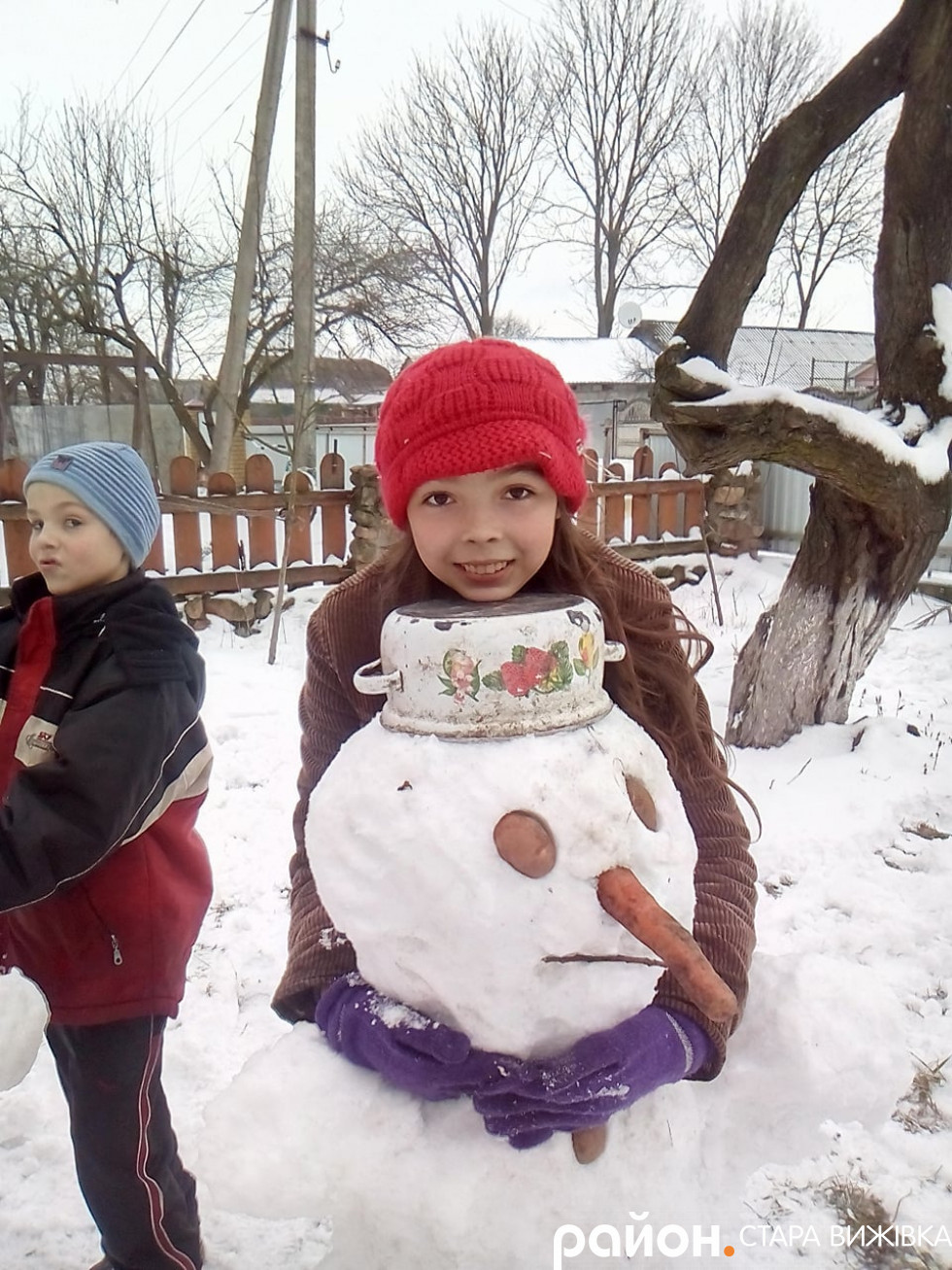Сніговика так і хочеться заобіймати!