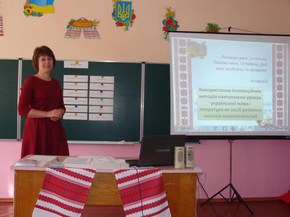 Людмила Василівна проводить майстер-клас