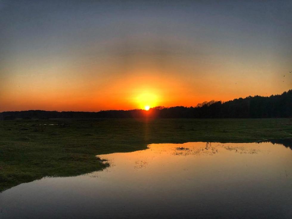 Захід сонця у Смідині