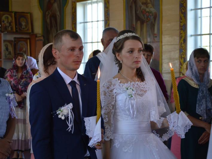Молодята Володимир та Ольга