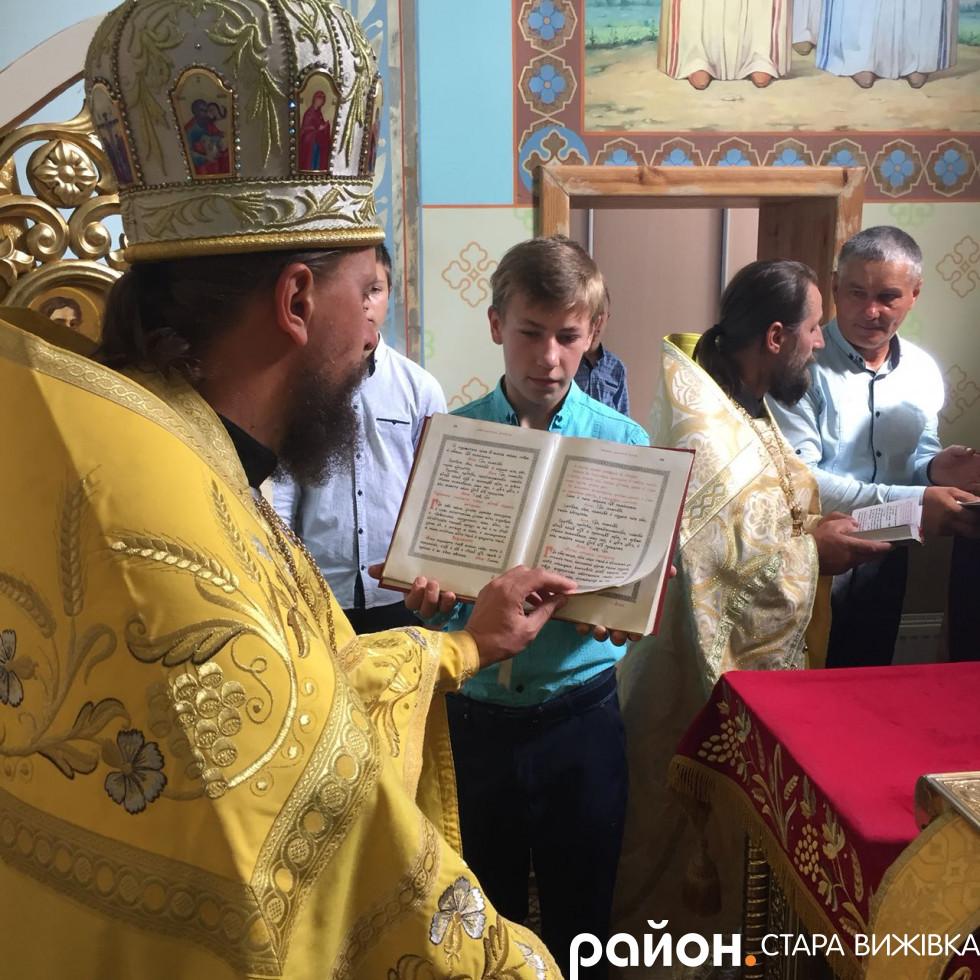 Під час служби у храмі