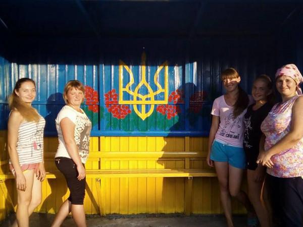 У Любохинах оновили автобусну зупинку