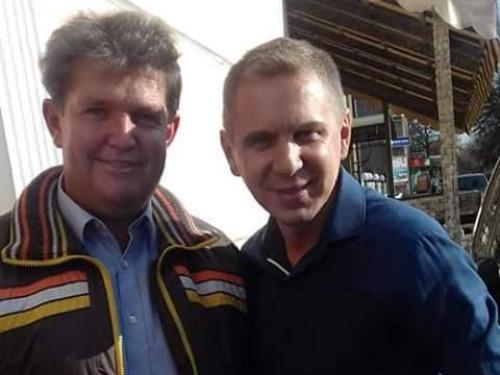 Володимир Хлопук з  мовознавцем Олександром Авраменком