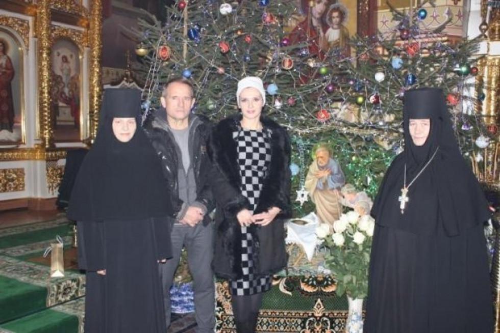 Віктор Медвечук та Оксана Марченко