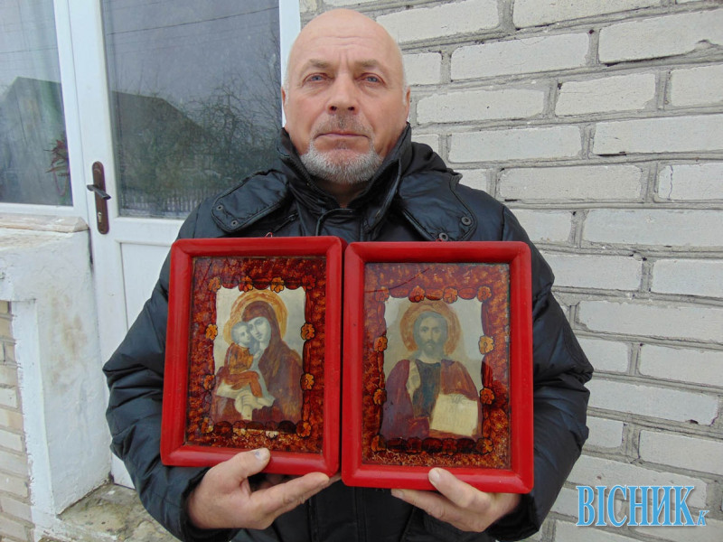 . В оселі місцевого фермера Леоніда Ярмолюка оновилися дві пари ікон