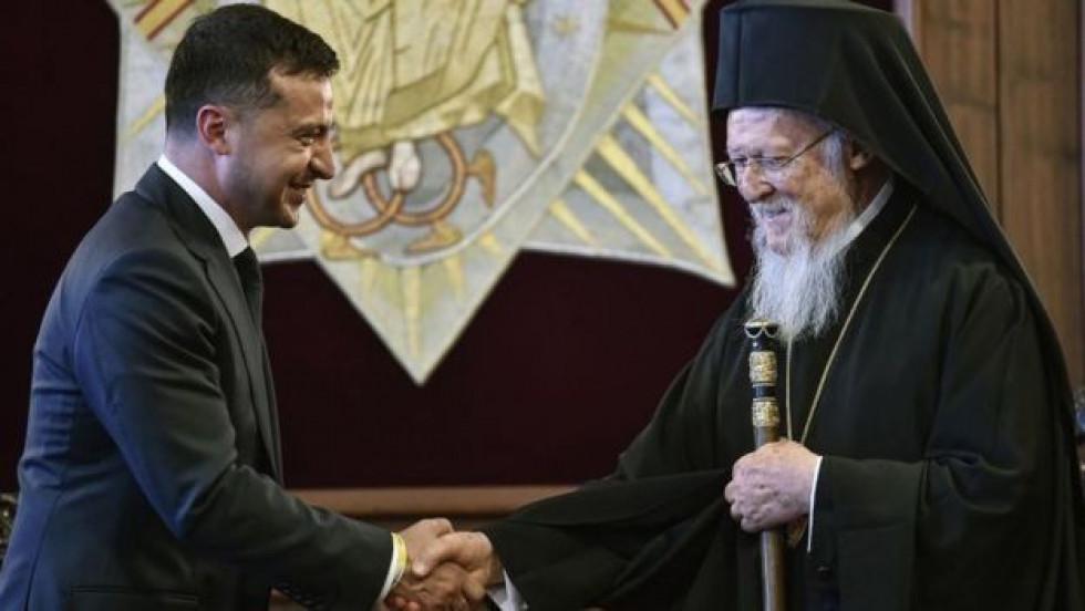 Президент Володимир Зеленський зустрівся з Вселенським патріархом 8 серпня